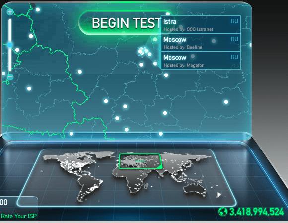 Как узнать скорость интернета: Speedtest.net