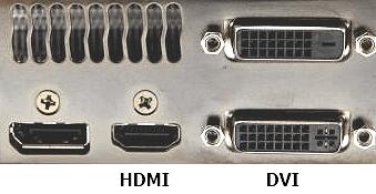 HDMI и DVI выход на видеокарте