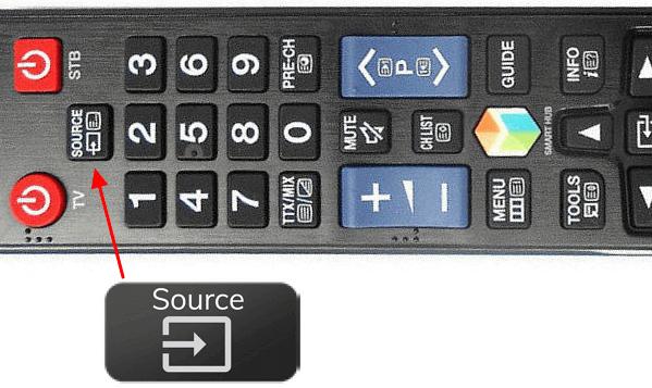 кнопка Source на пульте