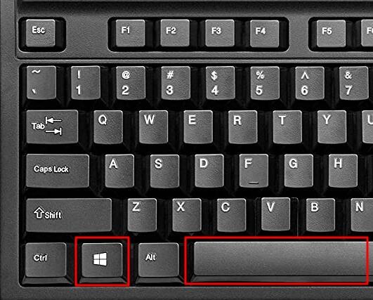 комбинация клавиш Win-Пробел