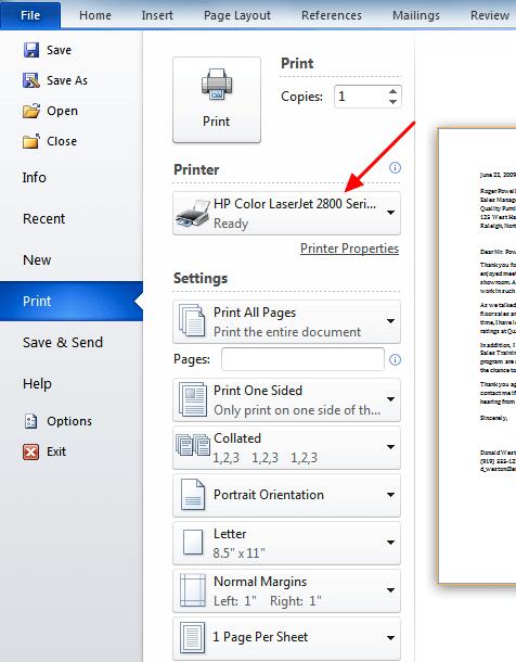 выбрать Microsoft Print to PDF