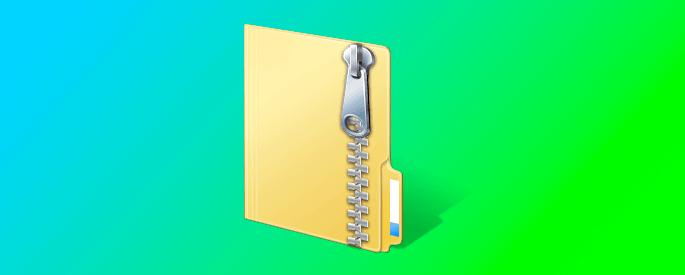 Как создать ZIP архив папки с файлами